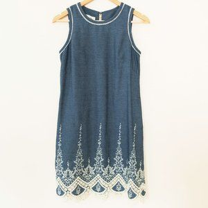 ✨ Sara Campbell Chambray Embroidered Dress